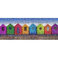 Found it at Wayfair.co.uk - Beach Huts Rectangular Mosaic Limited Edition Print