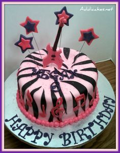 Girly Rockstar Cake