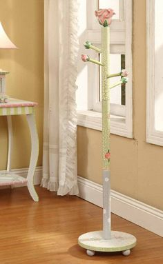Amazon.com : Teamson Kids Girls Coat Tree - Crackled Rose Room Collection : Childrens Furniture : Toys & Games