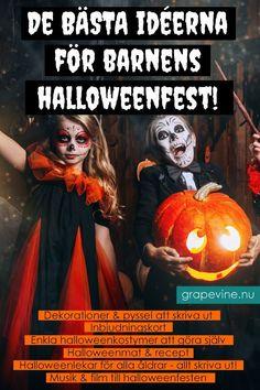 Här hittar du de bästa lekarna, dekorationerna och halloweenpyssel till Halloweenfesten. #halloween #halloweenfest #halloweenpyssel Halloween Snacks, Hallows Eve, Film, Movies, Movie Posters, Movie, Films, Film Stock, Film Poster