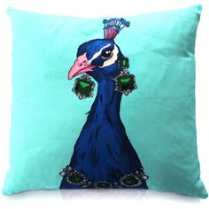 Perky - Peacock Print Cushion (€59) ❤ liked on Polyvore featuring home, home decor, throw pillows, set of 2 throw pillows, colored throw pillows and twin pack
