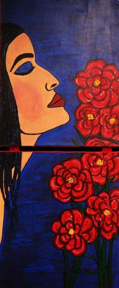 Dulce Dianthus~Original Art-Elizabeth A Soroka