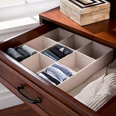 Improvements 9-Compartment Drawer Organizer ($20) ❤ liked on Polyvore featuring home, home improvement, storage & organization, bedroom drawers, bedroom furniture, bedroom storage, clothing storage and organizers