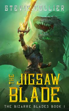 He always dreamed of becoming a champion. But finding a mythical sword could cut his life short… If you like plucky heroes, wacky humor, and ferocious prehistoric creatures, then you'll love Stevie Collier's swashbuckling tale. Fantasy Book Covers, Fantasy Series, Fantasy Books, Fantasy World, Fantasy League, Sword And Sorcery, Prehistoric Creatures, Fantasy Illustration, Book 1