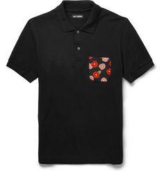 Raf Simons Slim-Fit Contrast-Pocket Cotton-Pique Polo Shirt | MR PORTER