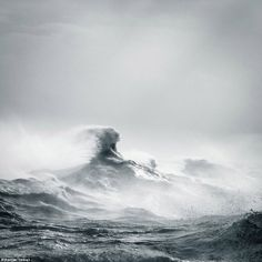 Force of nature: Titled 'Poseidon Rising', this stunning image captures the waves off the coast of Newhaven, East Sussex