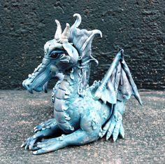 Danube Polymer clay dragon by AtelierDragonfly on Etsy