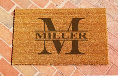 Custom Laser Engraved Door Mat Personalized by ClaybyrneMat