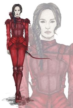 Red Mockingjay suit