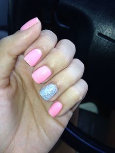 Nude light pink nexgen nails pretty love pinterest my nexgen manicure pink w accent glitter nail solutioingenieria Image collections