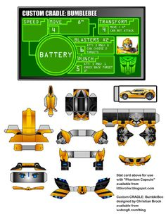 Blog Paper Toy template preview WuLongTi papertoy BumbleBee BumbleBee Transformers WuLongTi