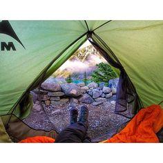 Tent views from Upper Joffre Lake Campground near Whistler.   (photo: @mountaindarlin via Instagram) #exploreBC #explorecanada