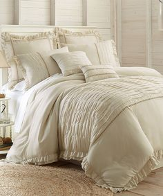 Another great find on #zulily! Beige Antonella Eight-Piece Comforter Set by Colonial Home Textiles #zulilyfinds