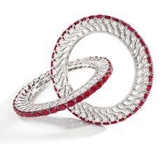 BHAGAT, Unique Pair of Ruby and Diamond Bangles. Estimate HK$1,950,000–2,400,000 (250,000–308,000 USD).