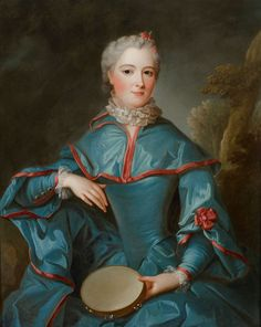 Jean Marc Nattier, PORTRAIT OF A LADY WITH A TAMBOURINE, Auction 929 Old Masters, Lot 1317
