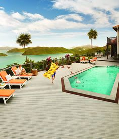 #Trex Transcend #Decking & #Railing, and Trex Outdoor #Furniture in St. John, USVI