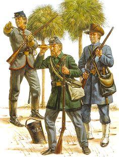 South Carolina volunteer militia, 1861 (Harbor Duty): • Rutledge mounted riflemen  • Rhett guard  • Washington light infantry
