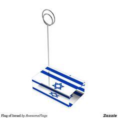Flag of Israel Table Card Holders