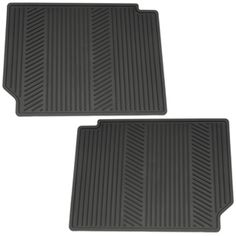 Equinox Floor Mats- Rear: Rear Mats with custom deep patterned grid collect rain, mud, snow, and debris. Nibs on back help hold mats in place and conform to the interior of your vehicle.