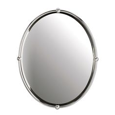 Oval Strapping Bathroom Mirror - downstairs powder room http://www.shadesoflight.com/product.php?productid=424509=296=3