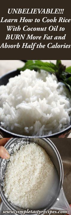 UNBELIEVABLE!!! Learn How to Cook Rice With Coconut Oil to BURN More Fat and Absorb Half the Calories