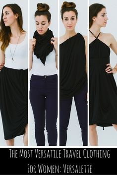 I've found the most versatile piece of clothing for women who travel; the Versalette. One piece with over 30 ways to wear it.