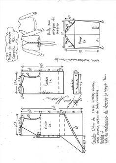 Waist tie shirt- Camisa de amarrar na cintura Shirt tie at the waist Sewing Paterns, T Shirt Sewing Pattern, Skirt Patterns Sewing, Pattern Drafting, Blouse Patterns, Clothing Patterns, Sewing Clothes Women, Diy Clothes, Costura Fashion
