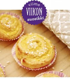 Kukapa ei rakastaisi dallaspullia? Ainakin makulaiset innostuivat täysillä Lunni leipoo -bloggaajan vaniljakierteistä! Deserts, Muffin, Cookies, Baking, Breakfast, Sweet, Recipes, Koti, Buns