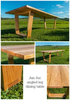 Made in Torquay, Australia. International shipping available Wooden Dining Table Designs, Timber Dining Table, Dinning Room Tables, Dining Table Legs, Dining Room Design, Wooden Tables, A Table, Wooden Pallet Furniture, Table Furniture