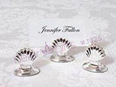 BeterWedding Decoration factory sale WJ025 Silver Plated Shell Place Card Holder   #placecard #weddingdecor #partydecoration #photoalbum #cardholder #weddingcards #beterwedding #weddingideas