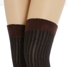 Cable Knit Leg Warmer / Thigh High with Soft, Cozy Microfiber Top, Coffee Brown for only $6.99 LOVE them with my boots