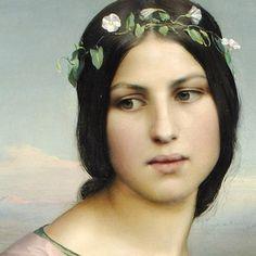 """CONFERENCE 1 H MBA / RDV AVEC UN BOTANISTE SALLES LOUIS JANMOT  11/3/16  Louis Janmot """"Les fleurs des champs""""   1845 huile sur toile   103 x 83cm Musée des Beaux Arts de Lyon."""
