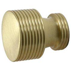 Style G Satin Brass Designer Cabinet Knob Knob Round Cabinet Hardware & Knobs Kitchen