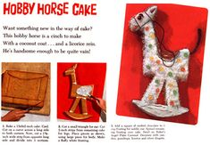 My mom made this one for my 5th birthday party! She had the cookbook but I cannot find it now. Bakers Animal Cut-Up Cakes