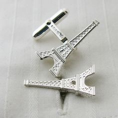Eiffel Tower Silver Cufflinks by English Cufflinks, the perfect gift for Explore more unique gifts in our curated marketplace. Chrysler Building, French Beauty, Tall Guys, Tour Eiffel, Parisian, Cufflinks, The Incredibles, Sterling Silver, Luxury