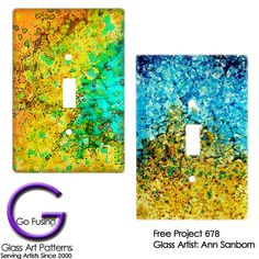 Have left over frit? Make a light switch cover to enjoy everyday!