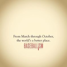 Baseball season is love