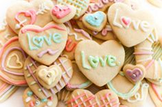 Valentine cookies. Great for bake sales or class treats.