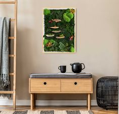 This natural moss art is made with real preserved botanicals that do not require any maintenance and stay green and fresh for years. Ideal for hotel, spa, restaurants and bar decor as well for private home decor. Discover more moss art on Ninfa Studio website Moss Wall Art, Moss Art, Natural Interior, Flower Letters, Unique Wall Art, How To Preserve Flowers, Hotel Spa, Botanical Art, Boho Decor
