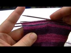 TheKnitGirllls Tutorial Series - Afterthought Heel...cool way for the heel on top down socks dpn :)