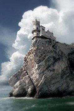 Swallows Nest Sea Castle, Crimea  (I bet this place has secrets to tell and ghosts that wander)