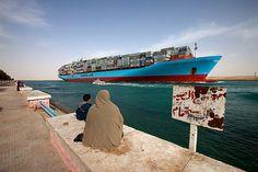 End of the Suez channel, Suez city, Egypt