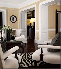 Winsor Smith :: Zebra Print Rug- I love how this print can add a final touch to a room.