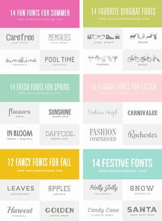 100 of the best fonts to use throughout the year! So many AMAZING fonts - most of them FREE!