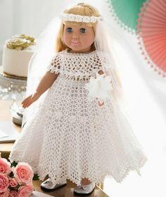 Crochet For Children: Doll Wedding Dress - Free Pattern