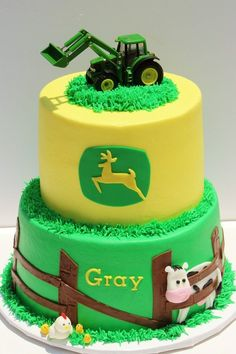 John Deere cake....Janice! Can you put this together for tonight?? hahaha!