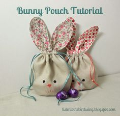 Cute Easter Pouch Idea a nice alternative to the traditional Easter Basket idea