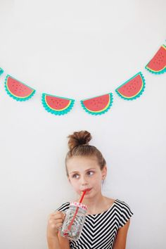 Watermelon garland. Great summer party décor.
