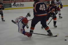 Photographer is Kathy Lesnar Photo was taken on 02/28/14 in Brookings SD Larson Ice Arena. Photo is of Youth Hockey for Sioux Falls Flyers vs Brookings Rangers in the youth division of JV. Players in the photo are Hunter Lesnar — at Larsen Ice Center, Brookings, SD.