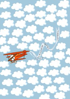 Baby Guest Book Alternative Poster, Airplane with Clouds and Announcement Banner, 11x17 Fingerprint Thumbprint Guestbook by SignatureMoments on Etsy